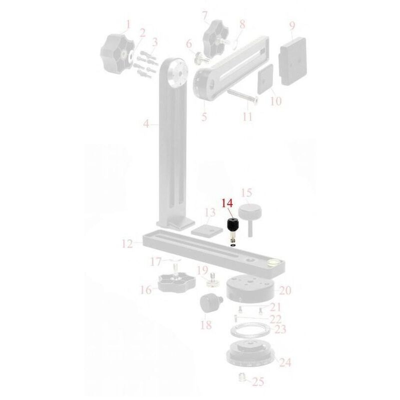 NN4/5/5L Detent Plunger Knob for Lower Standard Rotator