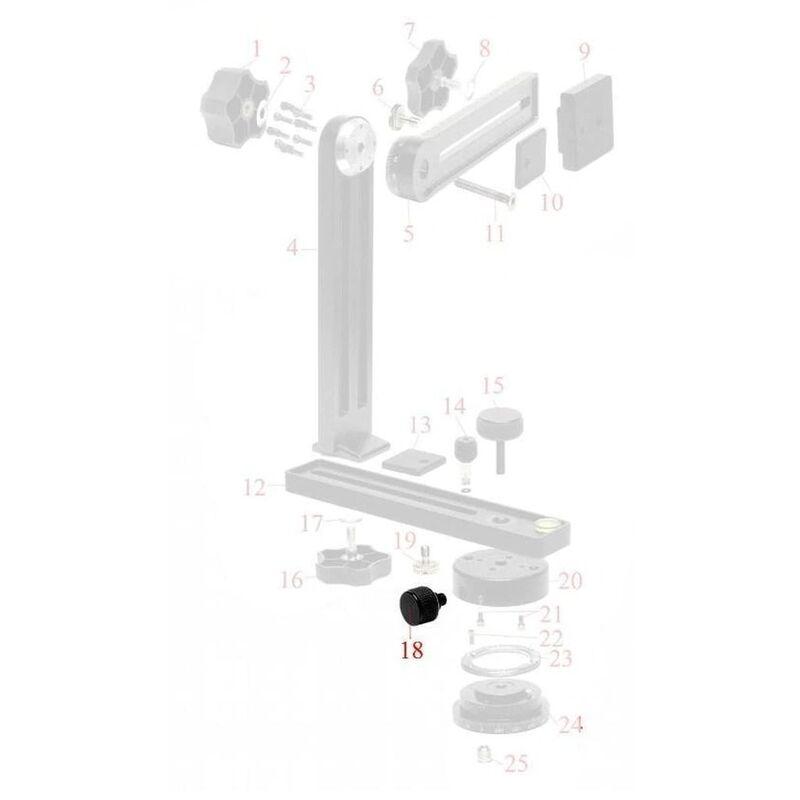 NN4/5/5L Lock Knob for Lower Standard Rotator