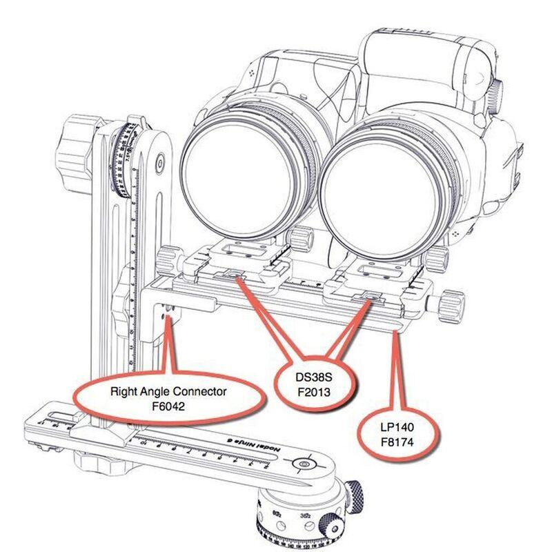 NN3 MK3 / NN6 Dual Camera Multi-row Attachment for shooting Stereoscopic Panoramas